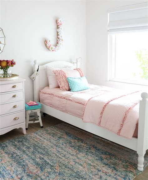 girls bedroom bedding girls shared bedroom why we love our blush pink ruffle