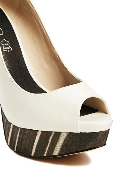 Lucite On The High Aldos Donostia Peep Toe by Object Moved