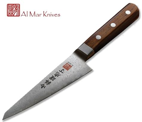 al mar ultra chef 4 75 quot damascus utility knife w cocobolo wood handle am uc4 blade hq kitchen professional cutlery page 1 cutlery shoppe