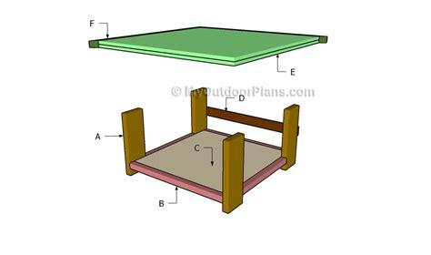 coffee table building plans rustic coffee table plans myoutdoorplans free