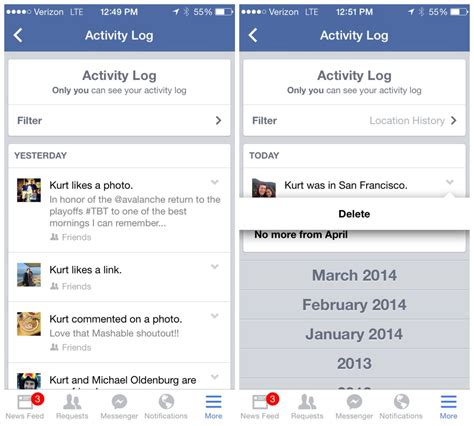 is there a way to delete app history on iphone hands on with facebook s nearby friends