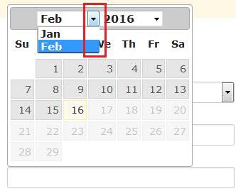 jquery datepicker not showing properly on a modal window jquery datepicker month dropdown border not showing