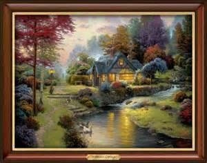 Home Interiors Thomas Kinkade Prints Thomas Kinkade Stillwater Cottage Canvas Print Wall Decor