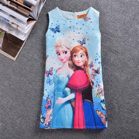 Print Dress Frozen fashion sleeveless elsa print frozen dress cmk062201