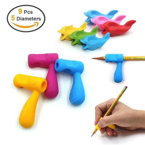 Dolphin Silicone Pencil Holder Holder Pensil Lumba Lumba pencil grips firesara silicone ergonomic writing claw aid dolphin and handle for ebay