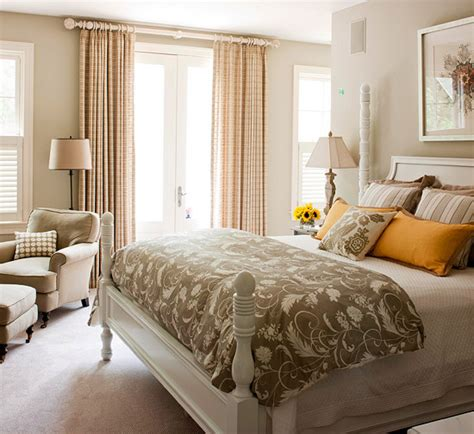 poised taupe bedroom modern furniture 2013 bedroom color schemes from bhg