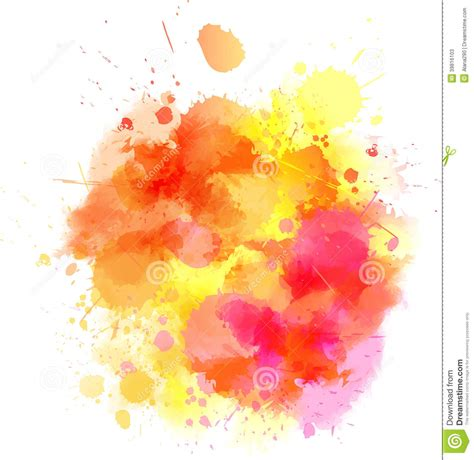 Orange Blot Stock Vector Image Of Abstract Messy