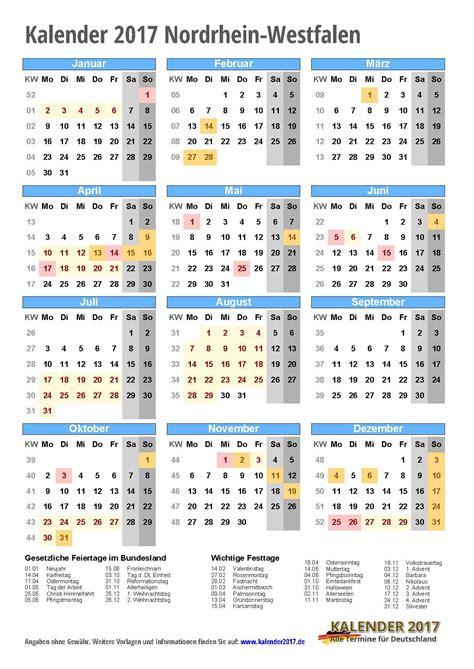 Kalender 2017 Ausdrucken Kalender 2017 Nrw Zum Ausdrucken Kalender 2017