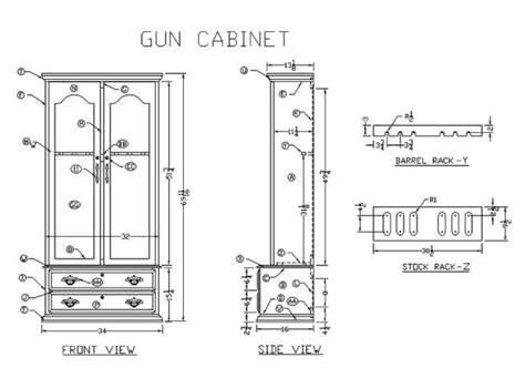 build   gun cabinet plans plans