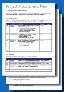 procurement management template free project procurement plan template toolkitcafe
