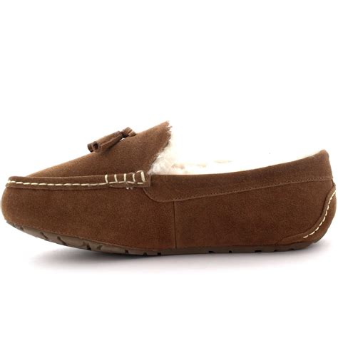 mens slippers loafers mens moccasins australian suede sheepskin tassel fur