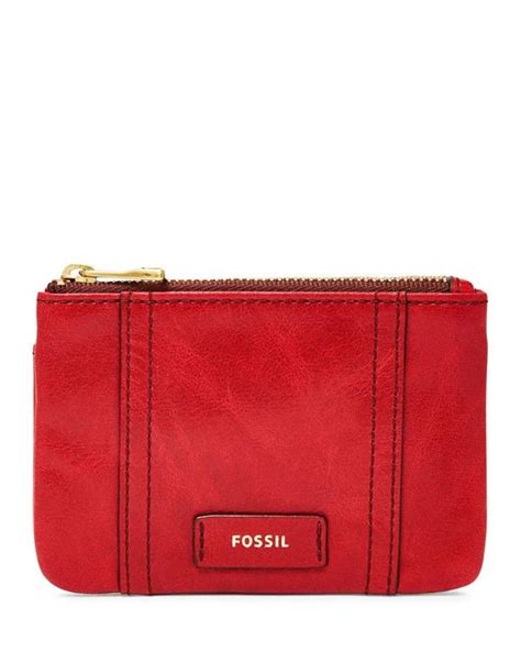 Dompet Fossil Ellis Wallet fossil ellis zip coin wallet in lyst