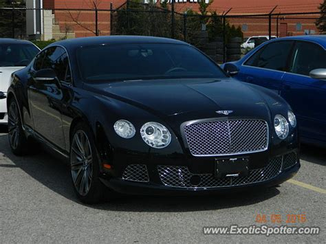 bentley canada bentley continental spotted in toronto canada on 05 06 2016