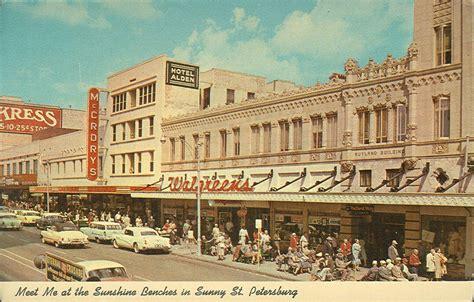 green bench st petersburg fl vintage travel postcards st petersburg florida