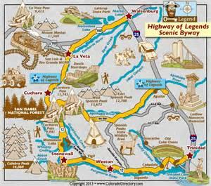 cuchara colorado map highway of legends scenic byway map colorado vacation
