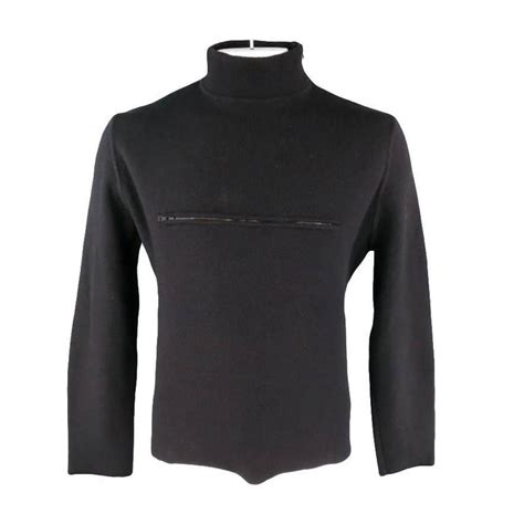 Baju Sweater Gucci Branded Murah Fit Xl gucci size xl black mock neck zip chest pocket pullover sweater at 1stdibs