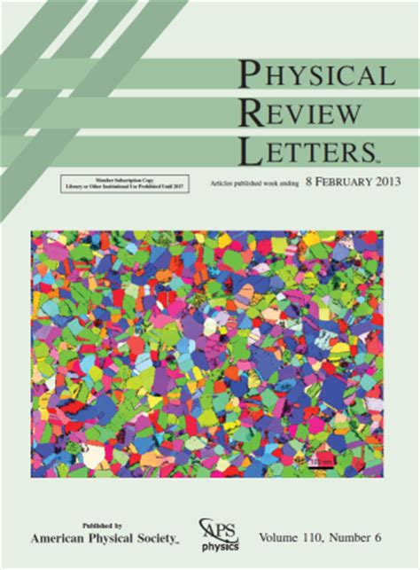 physical review letters int publications 1539