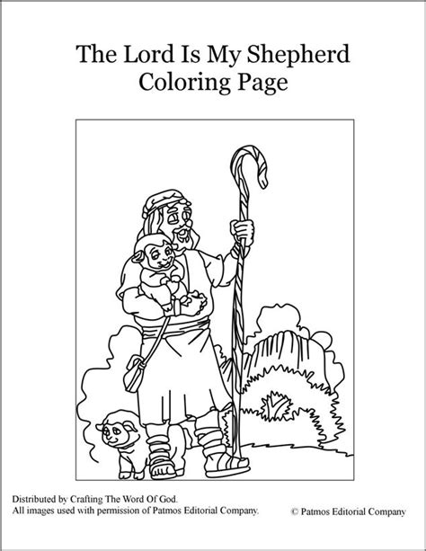 the lord is my shepherd coloring page 171 crafting the word