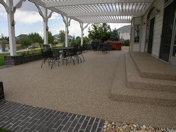 pebble epoxy patio overlay epoxy floor surface denver concrete resurfacing