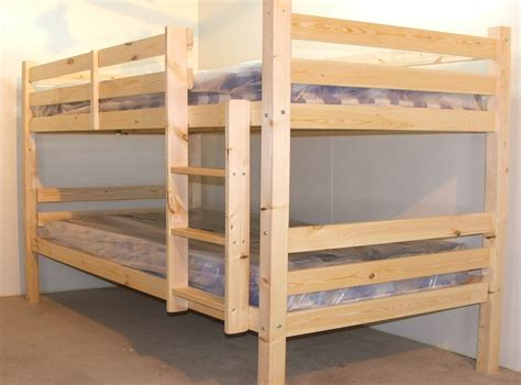 Everest 4ft 6 Double Heavy Duty Solid Pine High Bunk Bed 2ft6 Bunk Beds