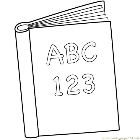color books book a b c coloring page free books coloring pages