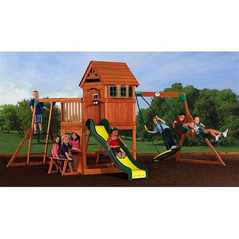 backyard discovery montpelier cedar wooden swing set backyard discovery wooden swing set montpelier walmart