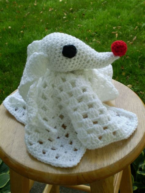 Nightmare Before Christmas Zero Crochet Pattern | crocheted zero lovey nightmare before christmas made