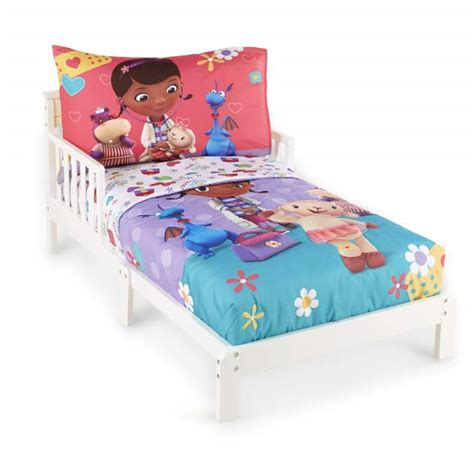 doc mcstuffins toddler bed set disney doc mcstuffins toddler girl s 4 piece bedding set