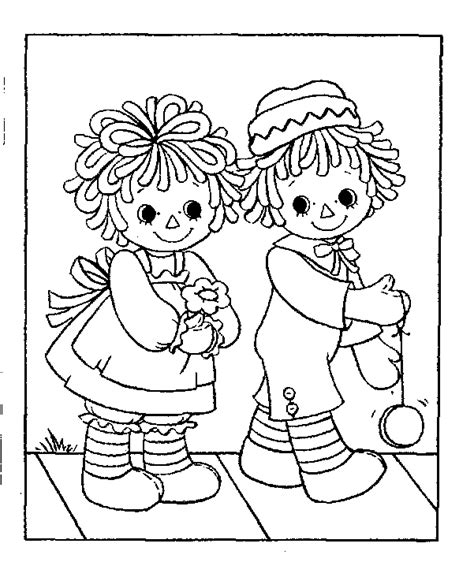 coloring book pages raggedy raggedy and andy colouring book pesquisa