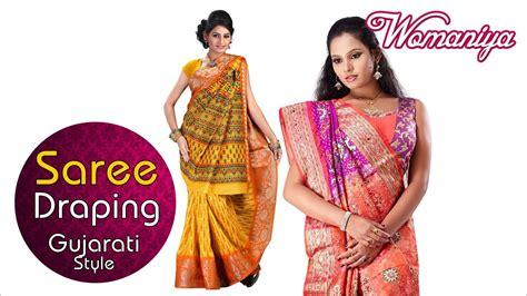 gujarati saree draping steps how to drape a saree gujarati style quick saree