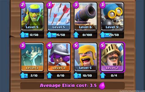 Arena 5 Deck: Easy 1500  Trophies at Level 5   Clash Royale