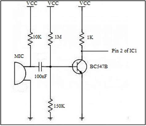 transistor lifier microphone simple sound processor circuit