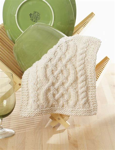 cable knit dishcloth pattern yarnspirations celtic cables dishcloth