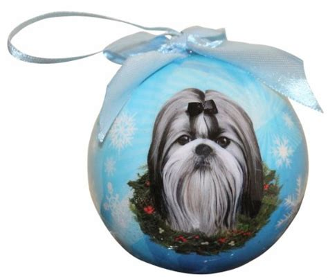 shih tzu easy to shih tzu ornament shatter proof easy to personalize a gift for