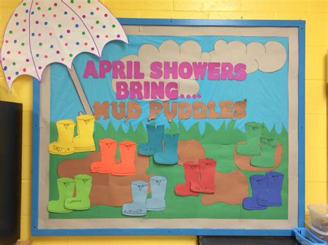 educational themes for april spring preschool bulletin board quot april showers bring