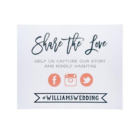 Wedding Hashtag Sign by Digital File Social Media Wedding Sign Social Media