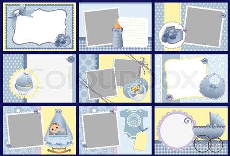 cute templates for baby photo album frames postcards