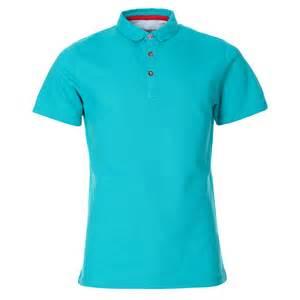 Polo Shirts Mens Jade Plain Waffle Polo Shirt