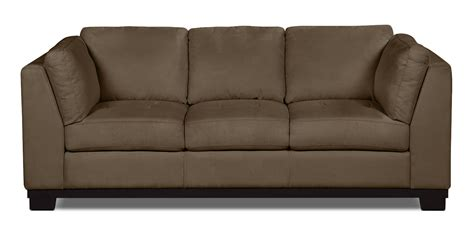 Oakdale 4 Piece Microsuede Sectional Cocoa The Brick Microsuede Sectional Sofa