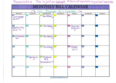 bill calendar tracking your bills with a monthly bill calendar got it