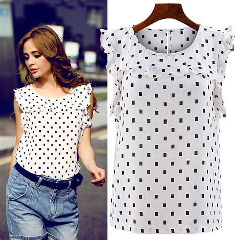 Blouse Pinguin Polka polka dot shirt womens artee shirt