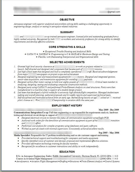Template For Resume Word by Engineering Resume Templates Word Sle Resume Cover