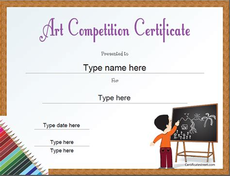 certificate design for drawing competition education certificates art competition certificate