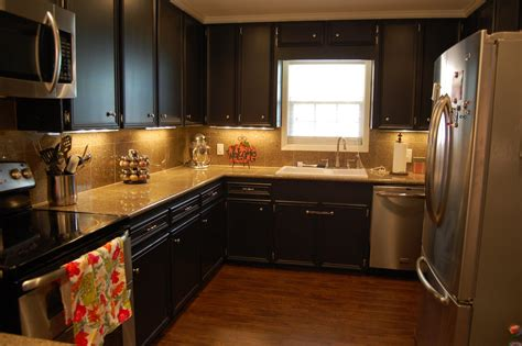 Painted Black Kitchen Cabinets Small Kitchen Remodels Before And After Pictures Kitchen Design Photos 2015