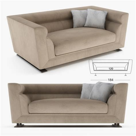 ansel loveseat longhi sofa 3d turbosquid 1206882