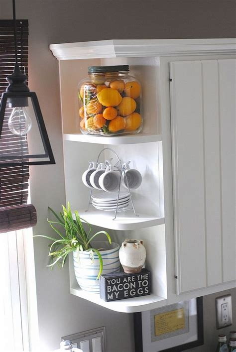 how to decorate kitchen shelves best 10 corner shelves kitchen ideas on pinterest