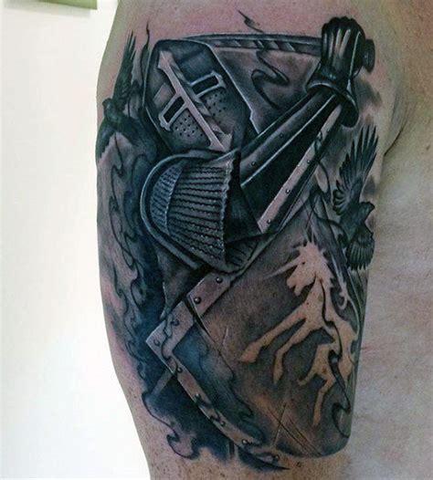 tattoo dragon knight top 80 best knight tattoo designs for men brave ideas