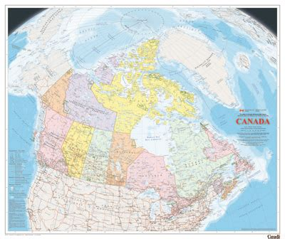 atlas map of canada wall maps resources canada