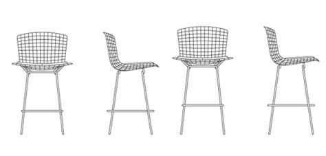 Bertoia Bar Stool With Seat Pad by Bertoia Barstool Counter Height Without Seat Pad Knoll
