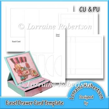 Easel Card Template by Easel Drawer Card Template 163 2 00 Instant Card